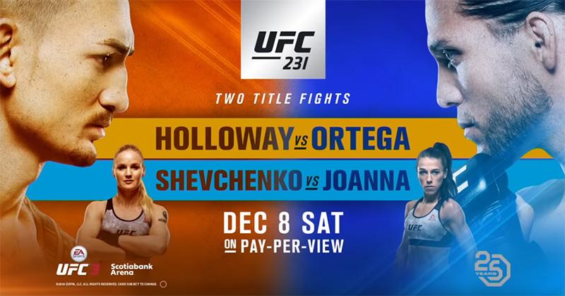 UFC 231 - Holloway vs. Ortega online free VPN